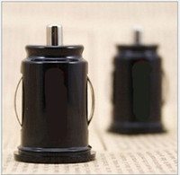 Wholesale Universal Bullet Dual USB Port Mini Car Cigarette Lighter Socket Charger V A Car Charger Power Adapter
