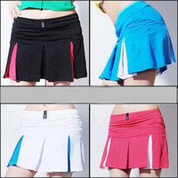 Wholesale Brand New sports tennis skirt women Sharapova tennis skirt girls with shorts athletic culottes shorts women badminton dress