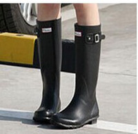Wholesale 2014 Brand New Women Fashion Rubber Rain boots Woman Knee High Waterproof Wellies Rainboots Water Shoes High Quality shoe