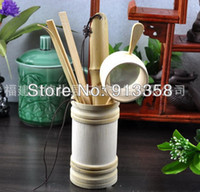 Wholesale Hot new Environmental Organic Bamboo liujunzi Both Handicraft and Practical Kung Fu Puer Tea Set
