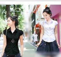 Cheap Polyester lycra Best Puff Sleeve Button shirt