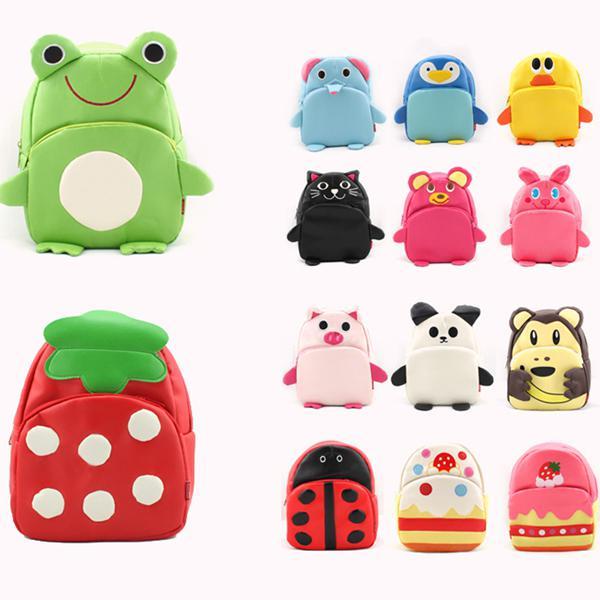 Cute Children'S School Bags/Kindergarten Baby Pu Backpack Backpack ...