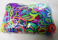 rainbow loom refill bands wholesale - 10pcs Hot DIY Rainbow Loom Refill Bands Rainbow Loom Bracelet for kids DIY bands C clips in each bag Various Colors