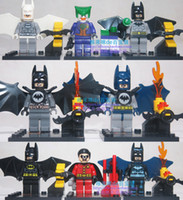 Wholesale New Batman Robin Joker dolls Building Blocks Super hero toys The Avengers Toys Turtles Minifigures Figure toys Sets children s gift