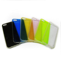 Wholesale TPU add PC Skin Translucent with dust Plug cell phone cases cover For Iphone4S S