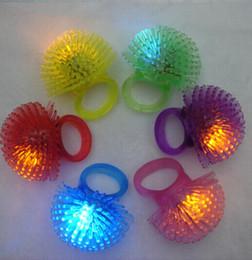 Halloween Prom LED Flash Finger Ring Plush Hand Laser Light Kids Toys Elastic Rubber Blinking Ring For Party Bar Christmas Gift