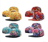 Wholesale NEW Hundreds floral Snapback Caps Men Basketball Hip Pop Baseball Cap Adjustable Flower Snapback hats hat