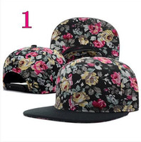 Ball Cap multicolor Man 5 pcs lot NEW Hundreds floral Snapback Caps Men Basketball Hip Pop Baseball Cap Adjustable Flower Snapback hats hat