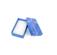 Jewelry Boxes paper  16pcs lot Assorted Colors Jewelry Sets Display Box Necklace Earrings Ring Box 5*8 Packaging Gift Box mixed $10 random Color delivery