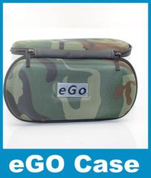 Wholesale E cig Ego caso con cremallera x80mm caso de camuflaje para el kit electrónico DHL libre barato para E cig