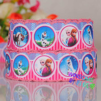 Wholesale 10yards quot mm Crochet snowman cartoon gift ribbon Crochet stitched cartoon ribbon
