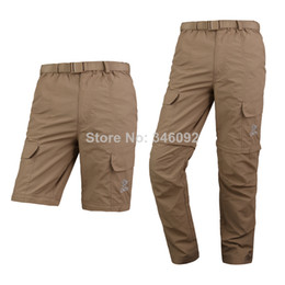 Wholesale Dual function Men s Pants Fishing Hiking Trousers Outdoor Waterproof Anti uv Quick dry Clothes Khaki