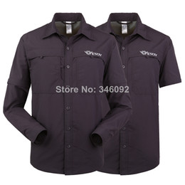Wholesale Dual function Men Shirts Fishing Hiking Shirts Dark Gray Outdoor Anti uv Quick dry Clothes