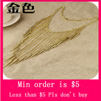 Wholesale Min Order Mix Jewelry order Large Statement Spike Necklace Chain Goth Punk Rock Rivet Tassel Stud Long Big N0216