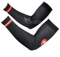 Cheap Black CAS CASTELLI 2014 Arm Sleeve Warmers Cycling UV Protection Cycle Bicycle Bike Sport