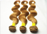 Wholesale Queen Hair Products Weft Colored Wavy brazilian Blonde Human Hair Body Wave Extension g dhl