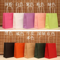 HY 130707D PET/PVC Label Elegant Gift bag 18x15x8cm Small size Paper gift bag Kraft gift bag with handle Excellent Quality Wholesale