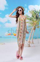Wholesale Summer Bohemia Bikini Swimwear Sarong Beach Cover Up Beach Dress Sexy Lady Long Scarf Beachwear C1283