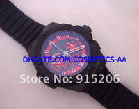 Men's mens sapphire ring - EMS SHIP Top brand racing Mens Automatic Chronograph Swiss Eta Movement Ceramic ring mm Sport Watches Sapphire rubber black