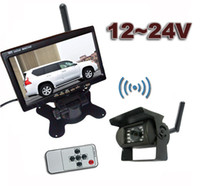 "Car Camera   12-24V Wireless Reversing Parking Backup Camera for bus truck caravan car 7"" LCD Rear view Monitor Screen Kit UP to 50m"