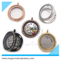 Lockets Trendy Women's wholesale magnetic 30mm stainless steel glass origami owl floating locket excluded charms