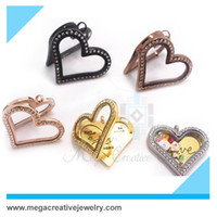 Wholesale 10 L stainless steel magnetic floating heart living locket pendant