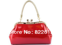 red patent leather handbag - Hot selling wedding handbag red amp pink bride bag small fashion evening bags designers brand clutch for ladies patent leather