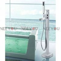 Wholesale Free Stand Shower Faucet Set Solid Brass Frool Stand Bathtub Faucets Chrome Bathroom Mixer Tap NY51022