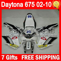 triumph - 7gifts Black white For TRIUMPH Daytona Q60 Stock black Daytona675 Fairing