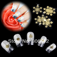 Decal 2D Metal Mixed Design Gold Metal Slice Nail Sticker Wheel Nail Art Decoration Decals Acrylic Tips Free shipping 2572