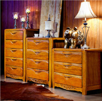 Fabric Beverage Cabinets only accept Container orderAll solid wood furniture golden walnut chest of drawers 501 thirty-four modern Chinese cabinet lockers debris