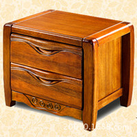 wood Bedside Guangdong furniture group only accept Container order501 pure solid gold walnut furniture bedside cabinet bedside cabinet modern Chinese Guangdong factory direct