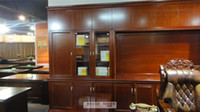 Wholesale only accept Container orderStyle luxury wood file cabinet office cabinet Mega high lengthened wood bookcase