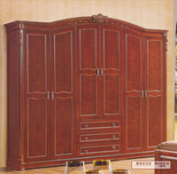 Wholesale only accept Container orderGuangdong Furniture Factory m six wardrobe wardrobe closet solid wood furniture manufacturers