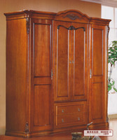 Wardrobe solid wood wardrobes - only accept Container orderGuangdong furniture factory supply four two meters of solid wood wardrobe