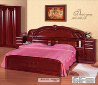 wood Other Guangdong furniture group only accept Container order# 758 oak bed factory direct Chinese 1.8 meters of solid wood furniture