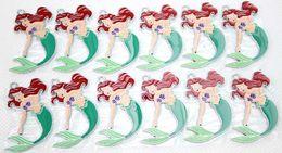 Wholesale Little Mermaid Princess Ariel Metal Zinc Alloy Enamel Charms Pendants Jewelry Crafts Making DIY mm