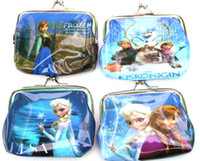 Wholesale New Good quality baby girls Coin Purses kids Snow Queen wallet chilldren princess Elsa Anna money bag party supplies