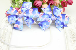 2014 popular Elsa Headband Girls Birthday Headband Elsa Party Hair bow BLUE Frozen hairbow Headband and clips 30 set lot