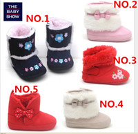 Wholesale 3 Pair Baby Infant Toddler Boys Girl Warm Winter Snow Shoes Boots Months