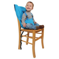 Wholesale 2014 New Portable Baby Kids High Chair Belt Seat Infant Safety Comfortable Easy To Carry Baby Eat chair Seat belt Color Melee