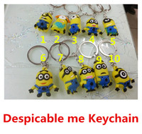 Wholesale 3D Cartoon Keychain Despicable Me Minion Action Figure Keychain Keyring Key Ring Design Cute Promotion Gifts New Arrival