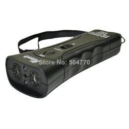 Wholesale Double Heads Ultrasonic Dog Repeller Super Dog Chaser and dog traning with LED light and Laser in