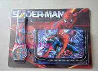 Wholesale New Arrival China Made Children s Digital Watches And Wallets Set Spider Man Cartoon Wristwatch Kids Birthday Christmas Gift Toys
