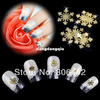 Decal 2D Metal Wholesale-Mixed Design Gold Metal Slice Nail Sticker Wheel Nail Art Decoration Decals Acrylic Tips Free shipping 2572