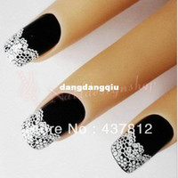 Wholesale PIECE Freeshipping Acrylic Lace Stylish Decal For Nail Art French Tips Nail Sticker Decoration