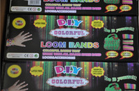 Wholesale Rainbow Loom kit colorful Rubber loom Bands bracelet amazing gift for children single colors handmade DIY bands S boxes