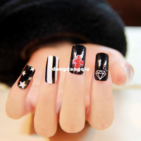 Wholesale new designs nails art stickers DIY nail decorations high nail polish quality for women rock styles price