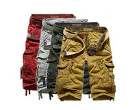 Shorts cargo shorts - 2014 new summer casual men s pants men s shorts pants Loose Cargo Carpenter Pants khaki