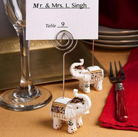 Wholesale Promotion sale White Elephant Place Card Holder Wedding decoration